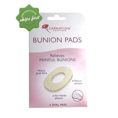 CARNATION BUNION PADS 4 OVAL PADS