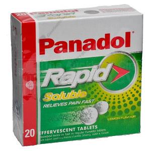 PANADOL RAPID SOLUBLE 20