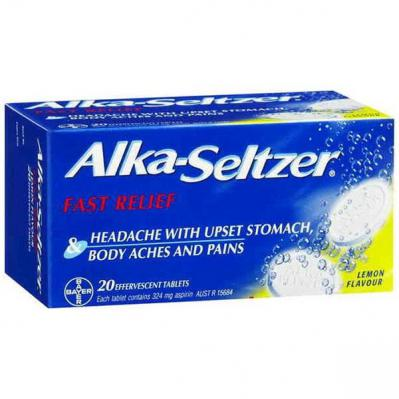 Alka-Seltzer Lemon Effervescent Tablets 20