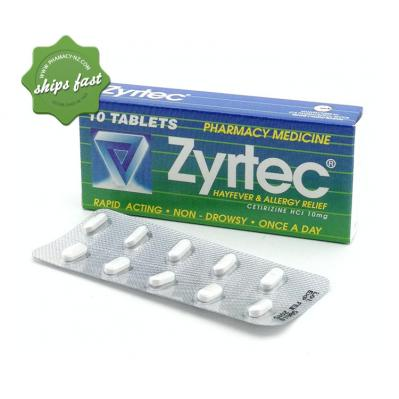 ZYRTEC TABLETS 10MG 10s