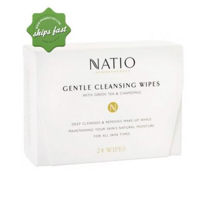 NATIO GENTLE CLEANSING WIPES 24 PACK
