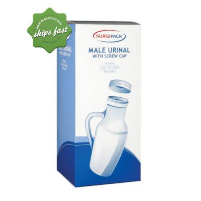 SURGIPACK MALE URINAL WITH SCREW CAP