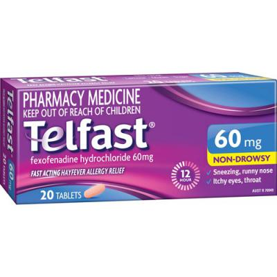 Telfast 60mg 20 Tablets