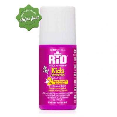 RID INSECT REPELLENT KIDS PLUS ANTISEPTIC ROLL ON 50ML