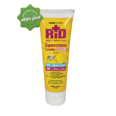 Rid Insect Repellent Sunscreen Combo Spf50 Lotion 100ml