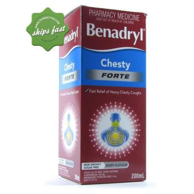 BENADRYL LIQUID CHESTY FORTE 200ML
