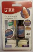 KISS NAILS FRENCH ACRYLIC SCULPTURE KIT 40s