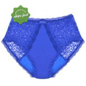 CONFITEX WOMAN FULL BRIEF LACE LIGHT ABSORBENCY BLUE SIZE 2XL
