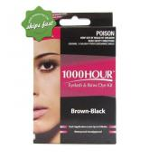 1000 HOUR EYELASH AND BROW DYE BLACK BROWN