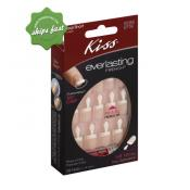 KISS NAILS EVERLASTING FRENCH STRING OF PEARLS REAL SHORT LENGTH