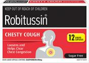 ROBITUSSIN CHESTY COUGH LIQUID 12 CAPS
