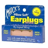 MACKS SILICONE EAR PLUGS 2PR