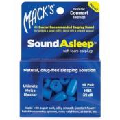 MACKS SOUNDASLEEP EARPLUGS X 12