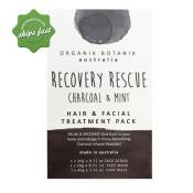 ORGANIK BOTANIK RECOVERY RESCUE CHARCOAL AND MINT HAIR ANA FACIAL TREATMENT PACK