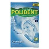 POLIDENT OVER NIGHT DENTURE TABLETS 36
