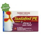 SUDAFED PE SINUS ALLERGY PAIN 24