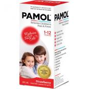 Pamol Liquid Strawberry 100ml