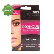 1000 HOUR EYELASH AND BROW DYE DARK BROWN