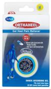 ORTHAHEEL GEL HEEL ORTHOTIC PAIN RELIEVER INSERTS MEDIUM