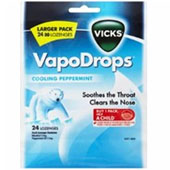 VICKS VAPORDROPS PEPPERMINT 24