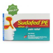 SUDAFED PE SINUS PLUS PAIN RELIEF 20 TAB