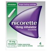 NICORETTE INHALATOR 15MG X 4 CART