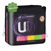 U BY KOTEX EXTRA 10 OVERNIGHT PADS