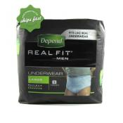 DEPEND REALFIT FOR MEN LARGE X 8