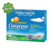 CLARATYNE CHILDRENS CHEWABLE TABLETS GRAPE FLAVOURED 10 TABLETS