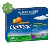 CLARATYNE CHILDERENS CHEWABLE TABLETS GRAPE FLAVOURED 30 TABLETS