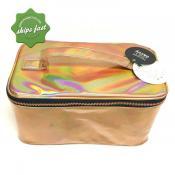 TENDER LOVE CARRY 2PC PVC GOLD GLITTER BAG