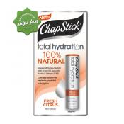 CHAPSTICK TOTAL HYDRATION 100 PERCENT NATURAL FRESH CITRUS 3 5 G