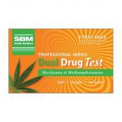 SBM Dual Drug Test Marijuana & Methamphetamine 2 Tests