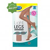 SCHOLL LIGHT LEGS COMPRESSION TIGHTS 20 DENIER NATURAL LARGE