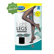 SCHOLL LIGHT LEGS COMPRESSION TIGHTS 20 DENIER BLACK SMALL