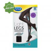 SCHOLL LIGHT LEGS COMPRESION THIGHTS 60 DENIERS BLACK XL