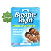 BREATHE RIGHT NASAL STRIPS CLEAR REGULAR 10