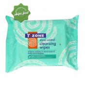 T ZONE SHINE CONTROL CLEANSING WIPES 25