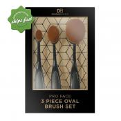 DESIGNER BRANDS 3 PIECE PRO FACE OVAL BRUSH CONTOUR SET