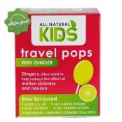ALL NATURAL KIDS TRAVEL POPS WITH GINGER LIME FLAVOURED 10S