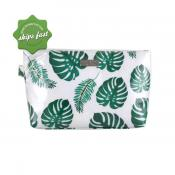 WICKED SISTA GREENERY LUXE LARGE COSMETIC BAG