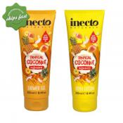 INECTO BOX SET TROPICAL COCONUT INFUSION BODY LOTION SHOWER GEL 2X 250ML