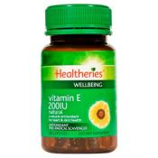HEALTHERIES VITAMIN E 200IU 60 CAPSULES