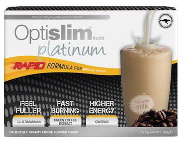 OPTISLIM VLCD PLATINUM COFFEE SHAKE 21X25G