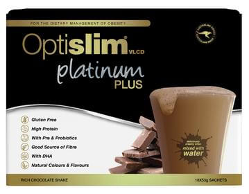OPTISLIM VLCD PLATINUM PLUS CHOCLATE 18X53G
