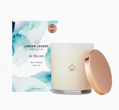 Linden Leaves In Bloom Soy Candle Aqua Lily 300g