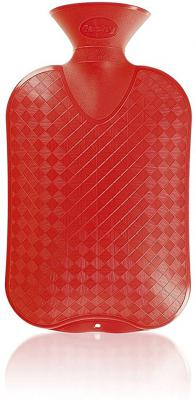 Fashy Hot Water Bottle Plain 2 Litre Red