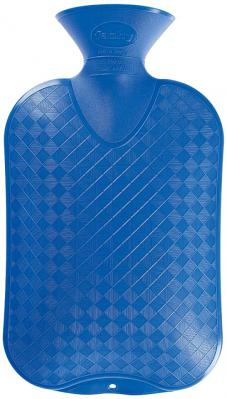 Fashy Hot Water Bottle Plain 2 Litre Blue