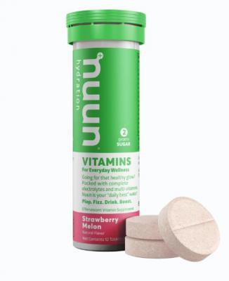 Nuun Vitamin Effervescent Tablets Strawberry Melon 12