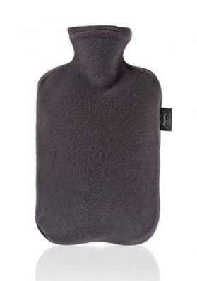 Fashy Hot Water Bottle Fleece Grey 2 Litre